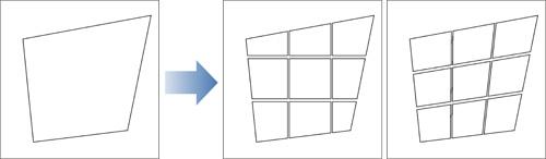コマ枠を等間隔に分割する