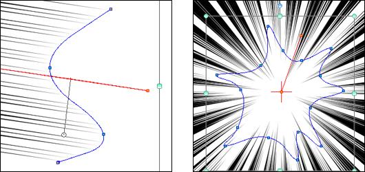 集中線、流線を作成