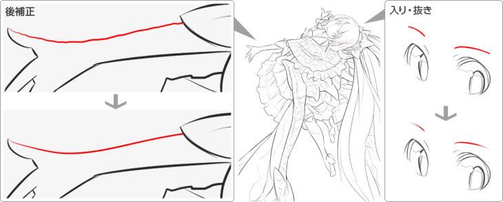 手描きのような線も再現できます!