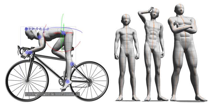 体型を変えられるデッサン人形が、あらゆるデザインに対応!