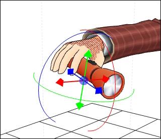 円形のマニピュレータで操作ができます