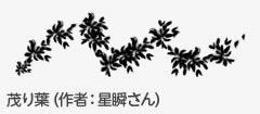 星瞬さんの「茂り葉」